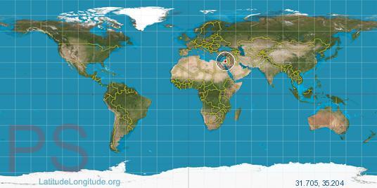 Bethlehem On World Map Bethlehem world map   Heaven4Sure